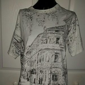 Rare New Orleans All Over Print T Shirt